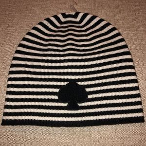 Kate Spade Black and White Ace of Spades Beanie